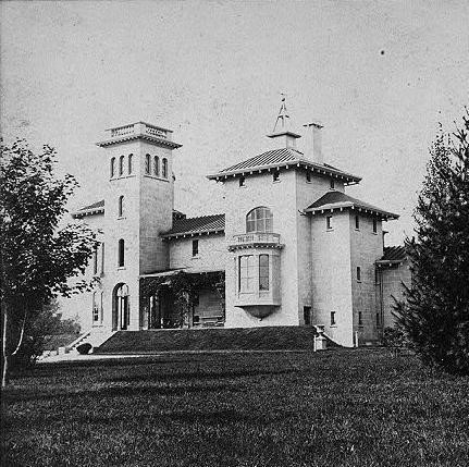 Winyah Park, Italianate style villa designed by Alexander Jackson Davis for Col. Richard Lathers in New Rochelle, NY