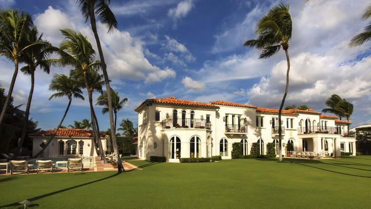 Palm Beach, FL, winter home of Kennedy family