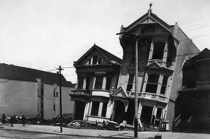 Victorian home that was a victim of 1906 San Francisco earthquake