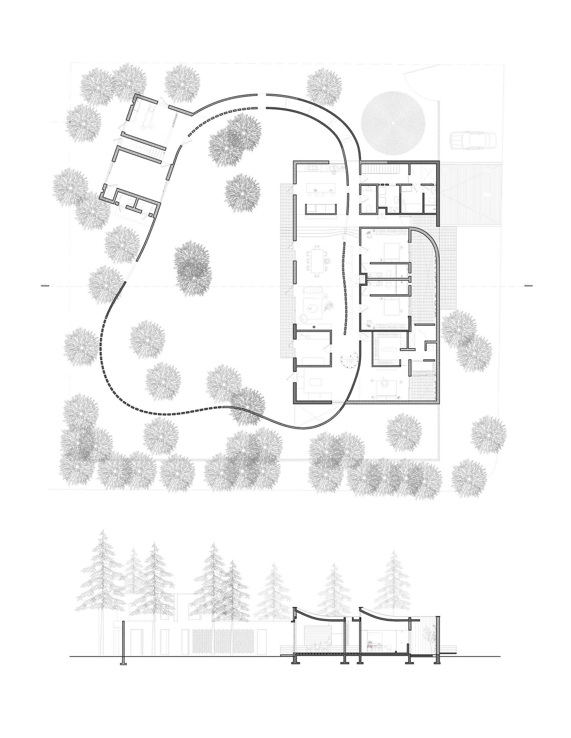 Floor plan of LANZA Altelier's first house