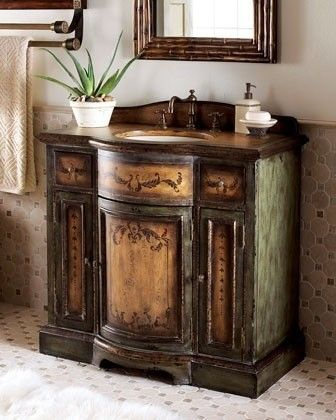 Example of what the first real bathroom vanity looked like