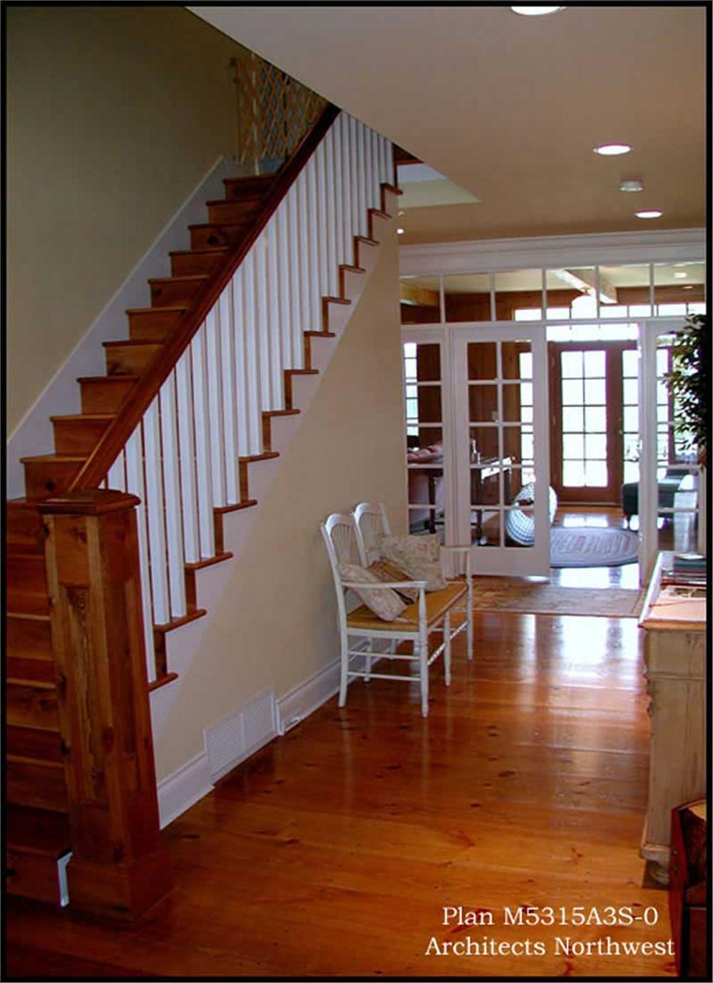 Entry foyer of this farmhouse