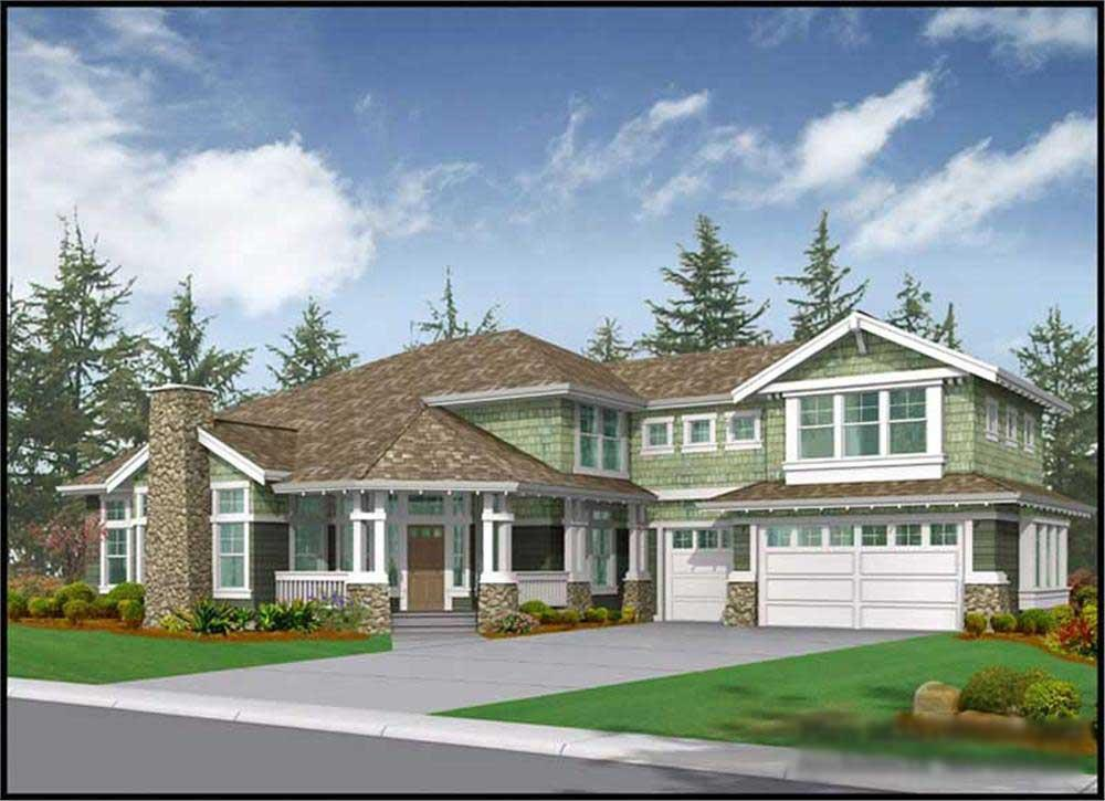 6-bedroom home large enough for a multigenerational family (House Plan #115-1042)