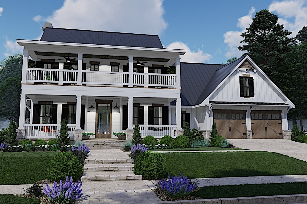 2-story Southern house plan #117-1133