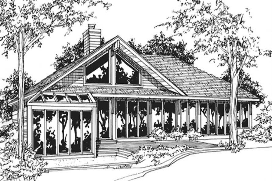 Passive-solar house plan #146-2710