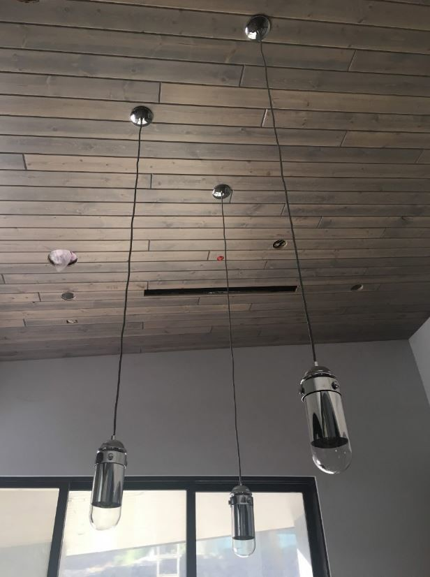 Wood-plank ceiling in TNAH 2019 is made of 1x6 Ponderosa pine