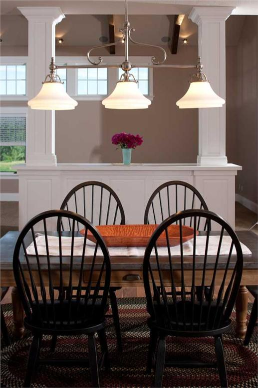 Breakfast nook in plan #161-1044