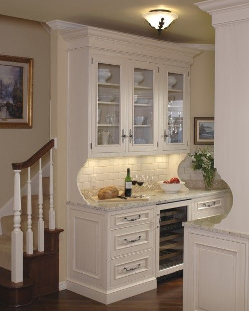No wine cellar? Install a wine cooler at a wet bar or in a pantry
