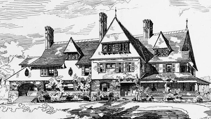 Sketch of Sagamore Hill by New York architects Lamb & Rich