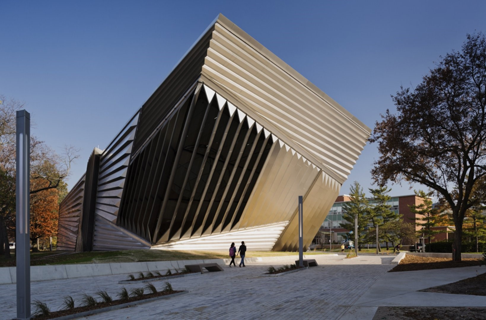 Eli & Edythe Broad Art Museum at Michigan State University, designed by Zaha Hadid