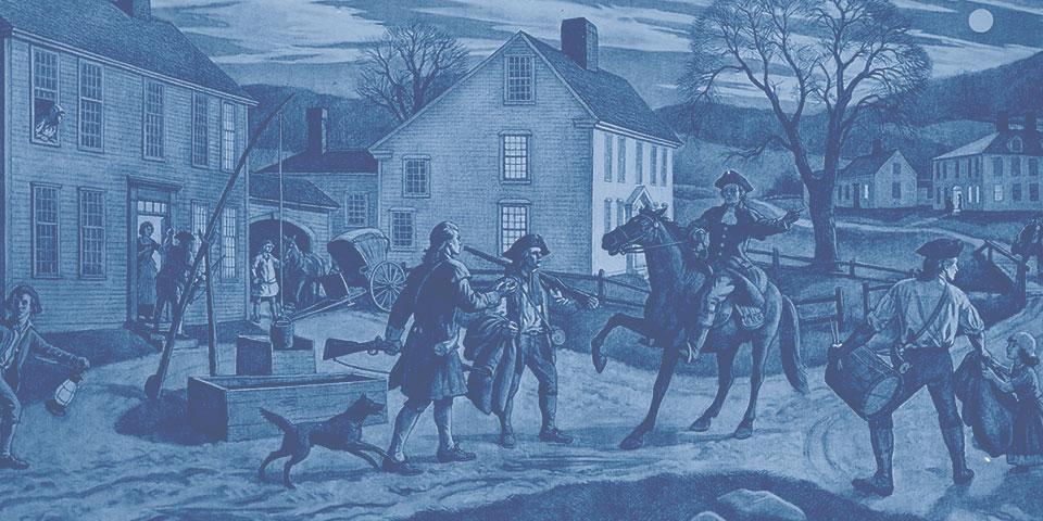Aiden Lassell Ripley's illustration of Paul Revere's Ride
