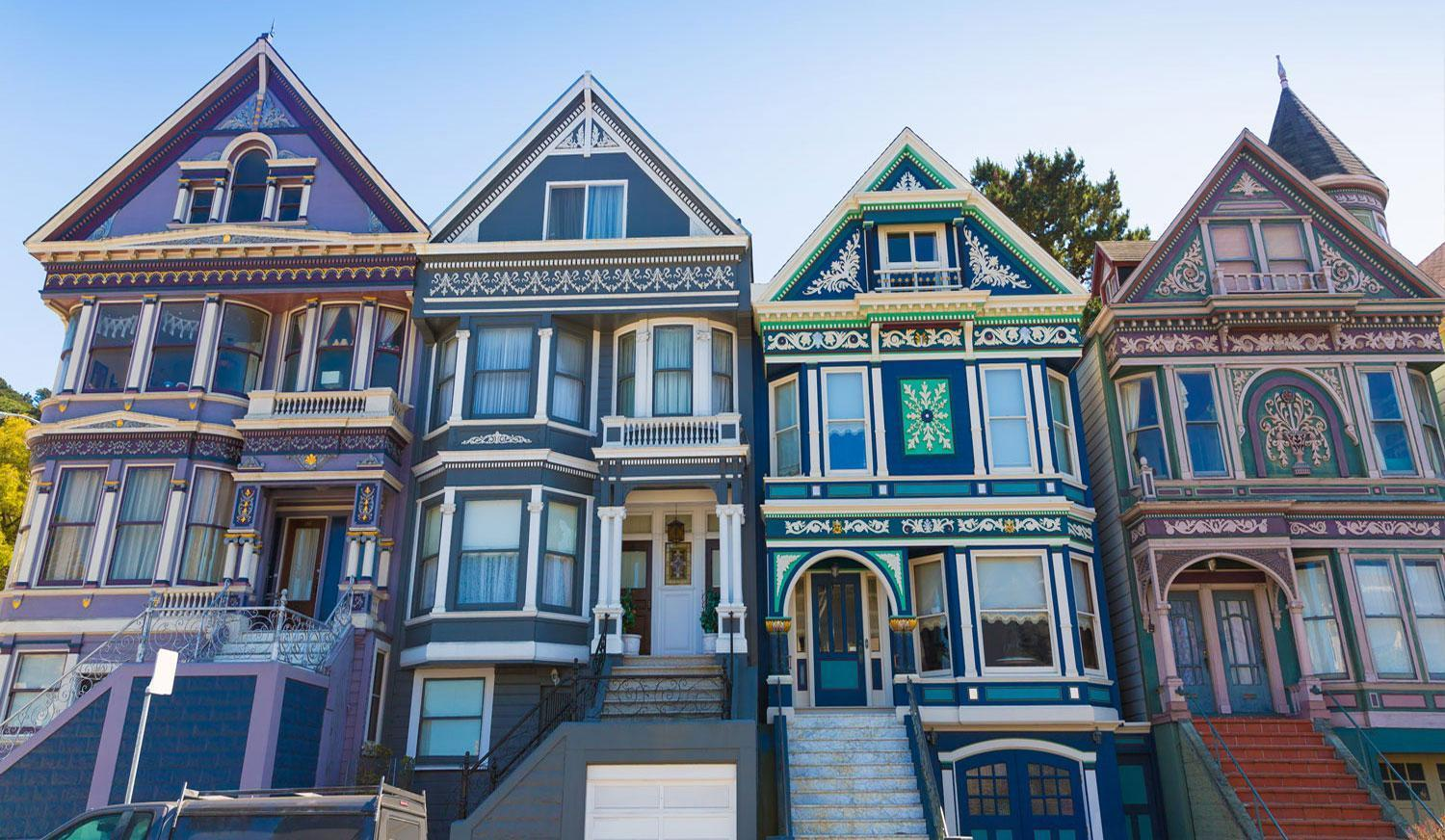 Handsome Painted Ladies in San Francisco