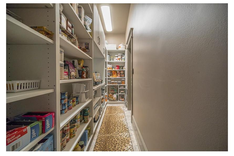 Larder in the kitchen of a 2-story, 5-bedroom European style home