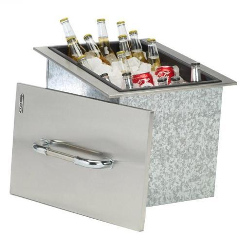 Drop-in stainless-steel ice cooler