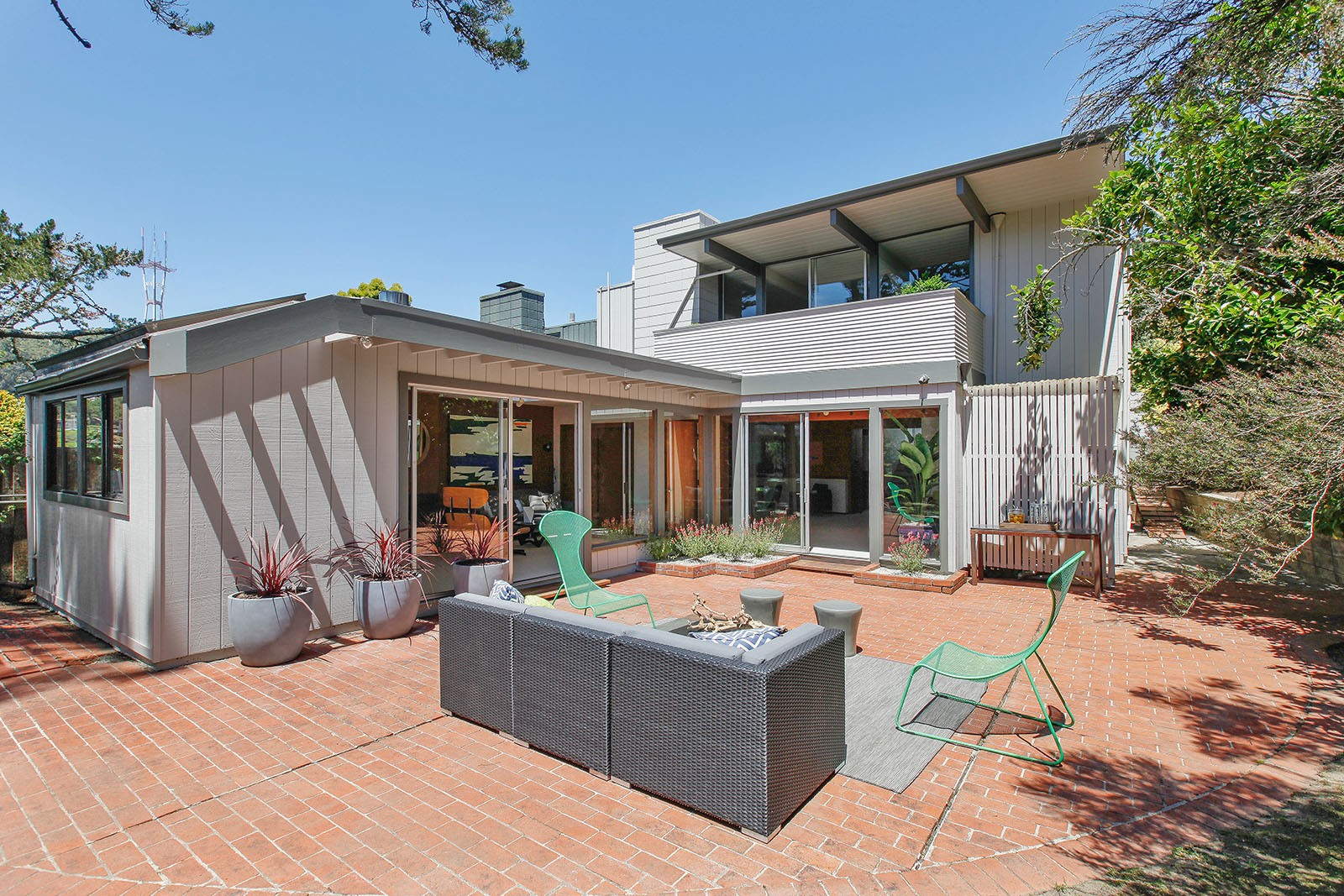 Rare two-story Eichler home in California