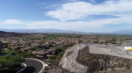 vVews of the Las Vegas Valley and the mountain range from TNAH 2019
