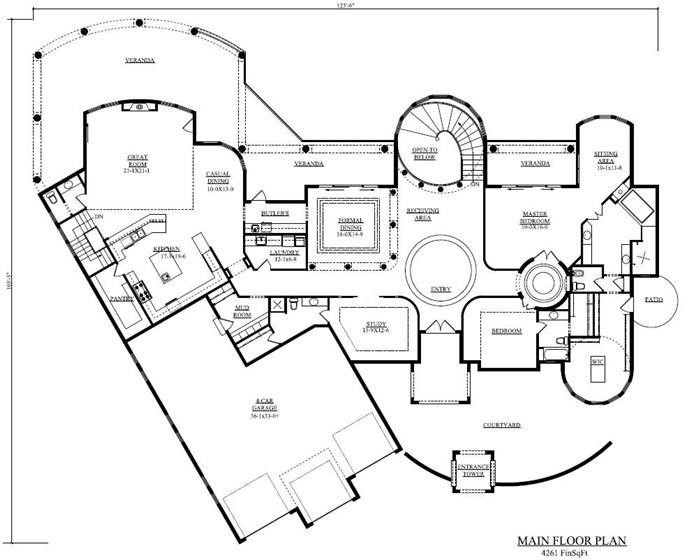 Floor plan of house plan #161-1034