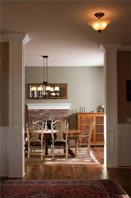 Dining room in plan #161-1044