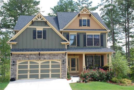An Eye Catching Facade And A Well Manicured Courtyard Entry Add To The Attractive Exterior Of This 2 Story 4 Bedroom Craftsman Style Bungalow House Plan