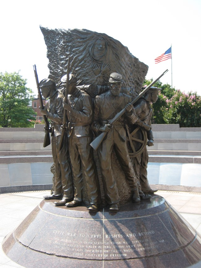 Memorial Sculpture at the African-American Civil War Museum