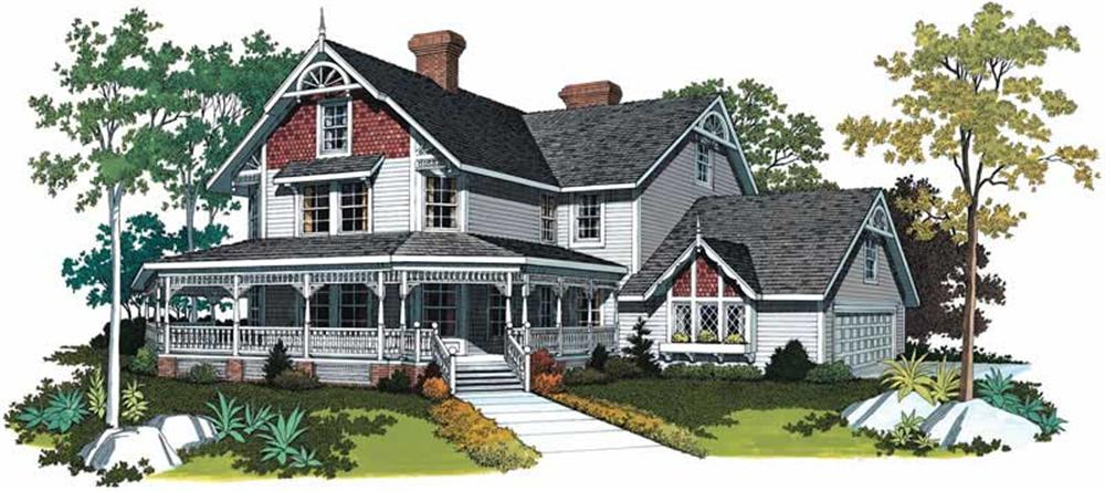 Victorian/Edwardian style House Plan #137-1603