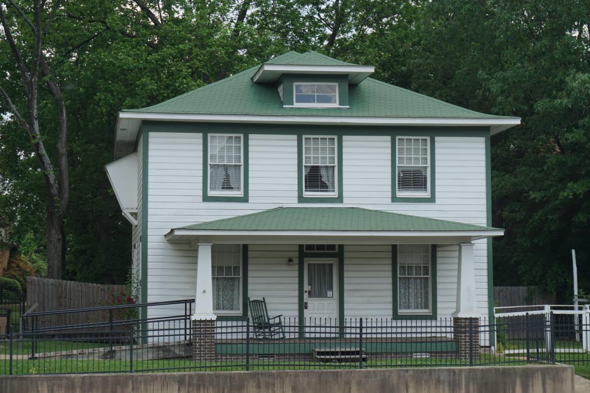 President Bill Clinton's Foursquare birth home in Hope, Arkansas