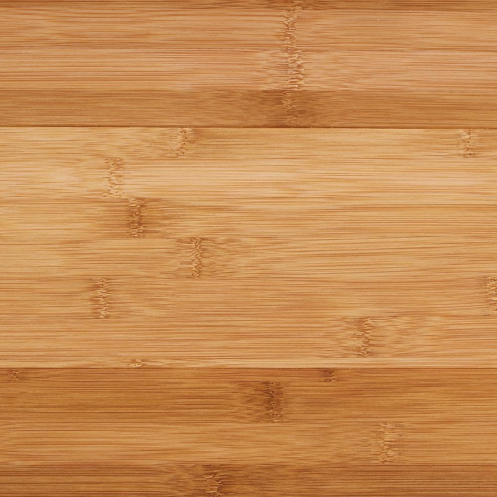 Honey-colored flooring that looks and acts like wood but is made from bamboo