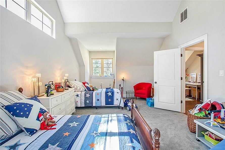 Kids bedroom with whimsical and functional furnishings in a 2-story, 5-bedroom Country style home