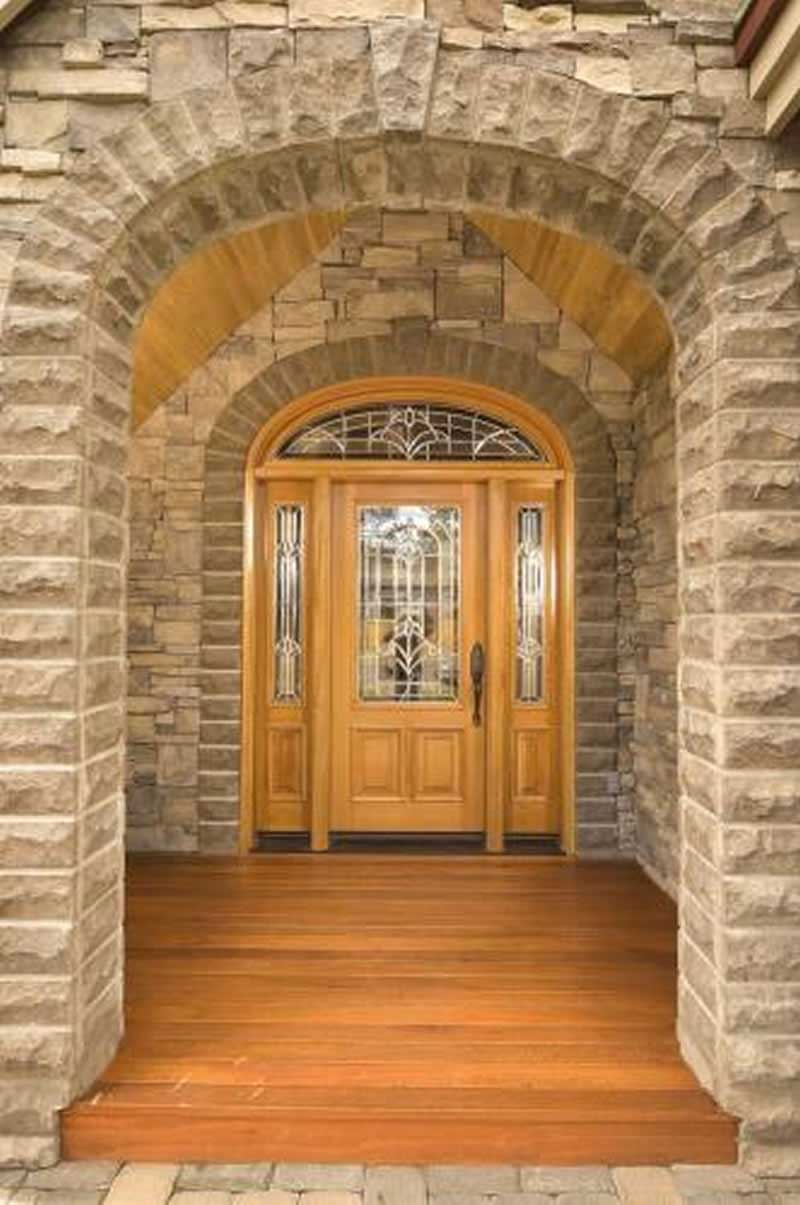 Front door of house plan #149-1158