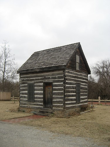 The Beard Cabin, constructed in 1892, the first home built in Shawnee, Oklahoma