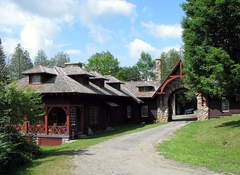 The Gatelodge Complex at Camp Santanoni in the Adirondack Mountains
