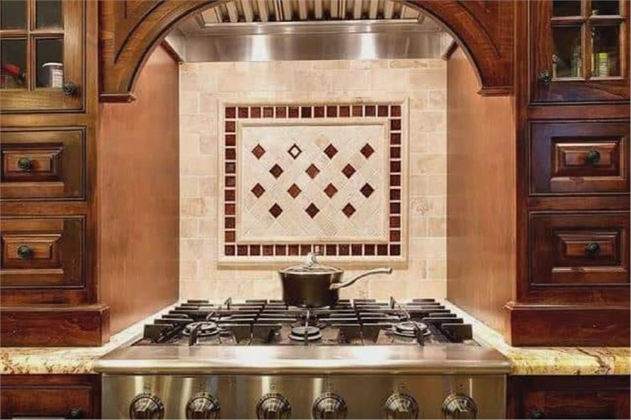 Eye-catching backsplash that stops you in your tracks as you walk into the kitchen