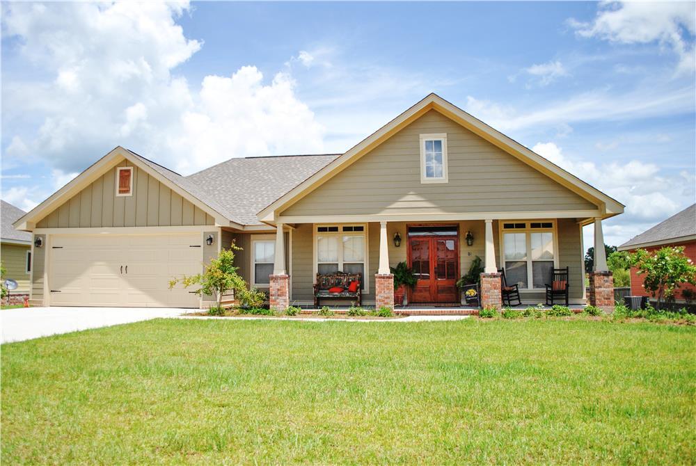 Craftsman House Plan #142-1082