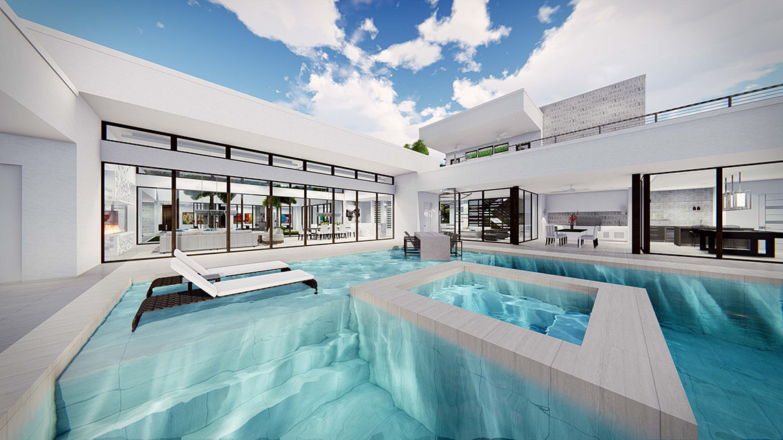Pool at The New American Home 2017