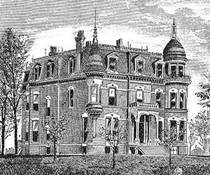 Manor home of Edward and Sarah Easton in Peoria, IL