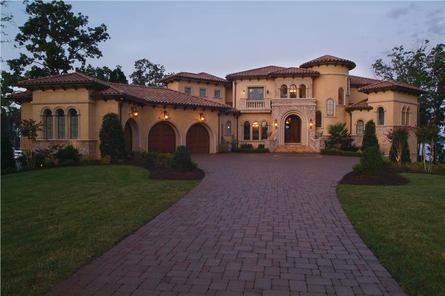 Luxury European home with 5 bedrooms, 6 full bathrooms, 3 half baths, 4 fireplaces