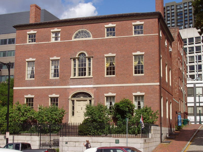 First Harrison Gray Otis House at 141 Cambridge Street, Boston, designed by Charles Bulfinch