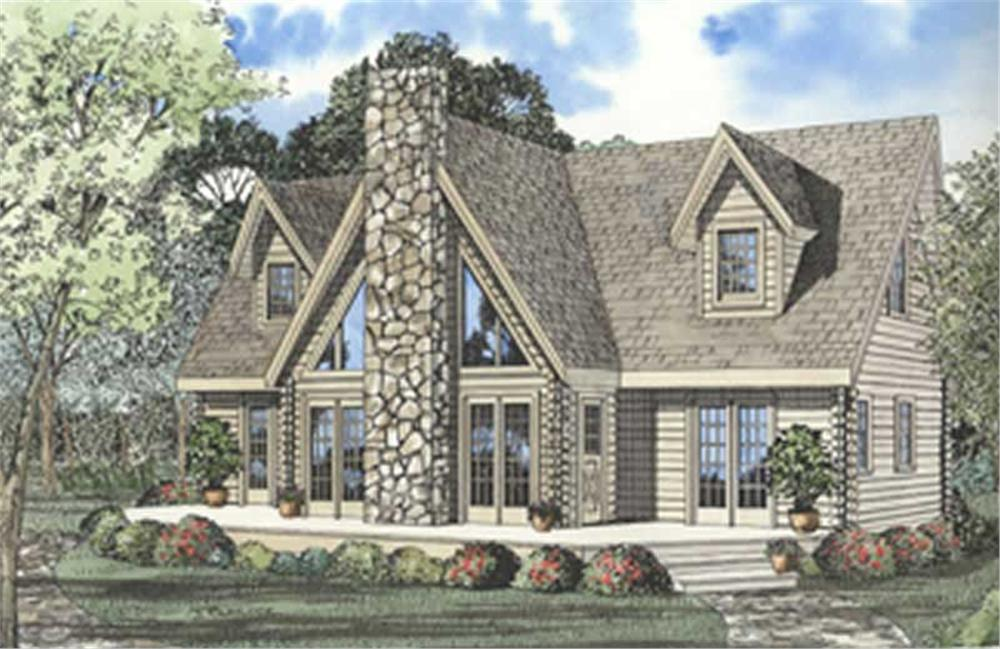 Rendering of Cabin Home with 3 Bedrooms