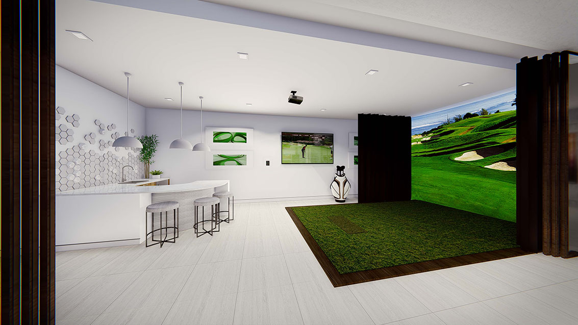 Golf simulator at The New American Home 2017