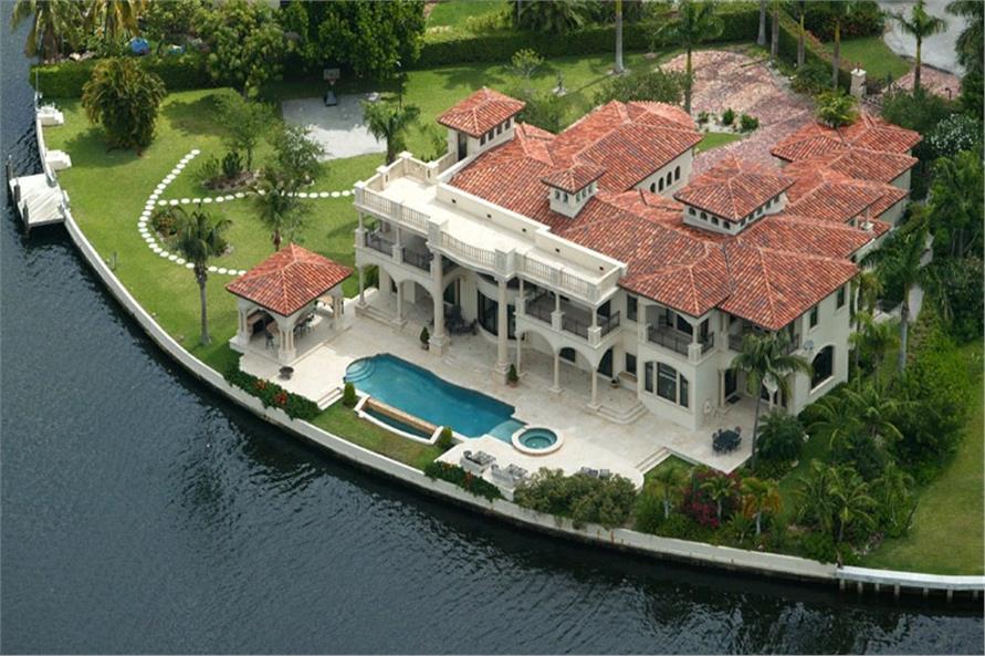Mediterranean style luxury home plan #107-1219