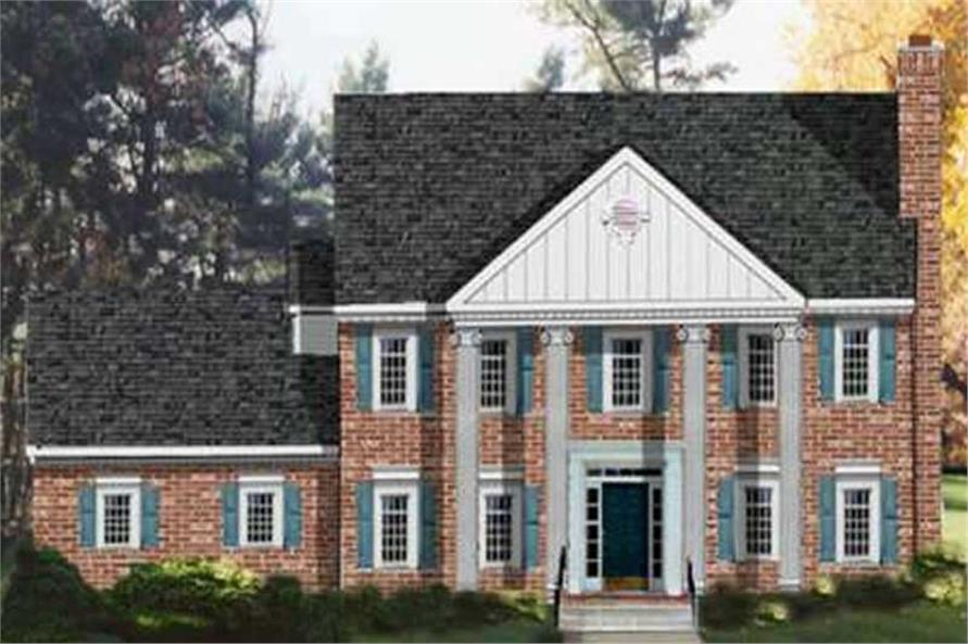 2-story, 4-bedroom Georgian style home with signature brick exterior