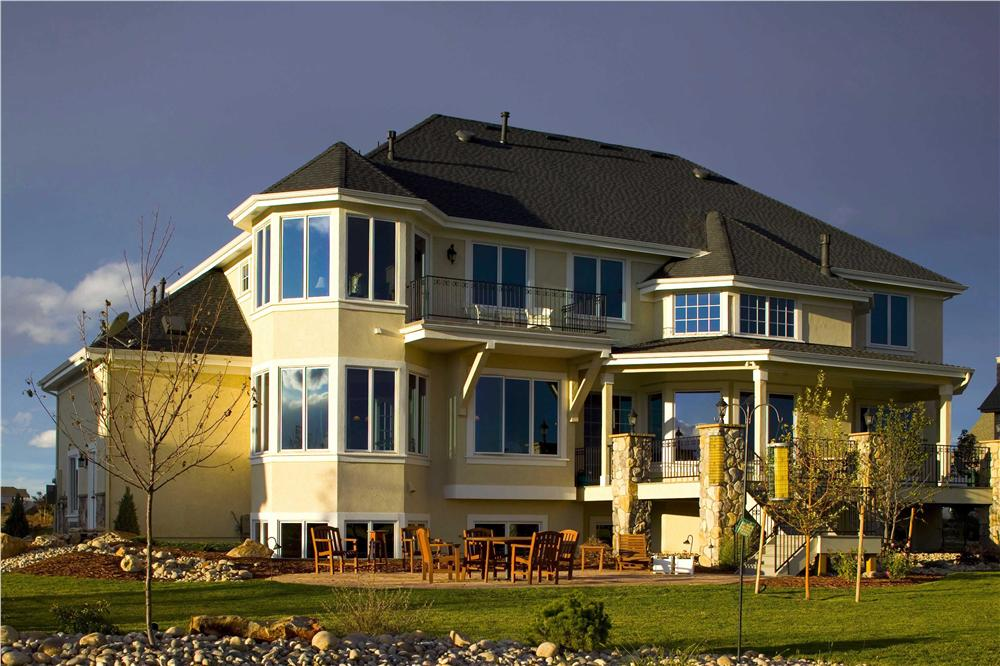 Rear photo of this luxury home.