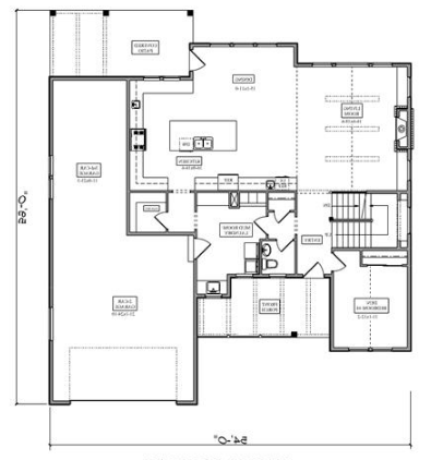 Floor plans for House Plan #161-1087 shown flipped