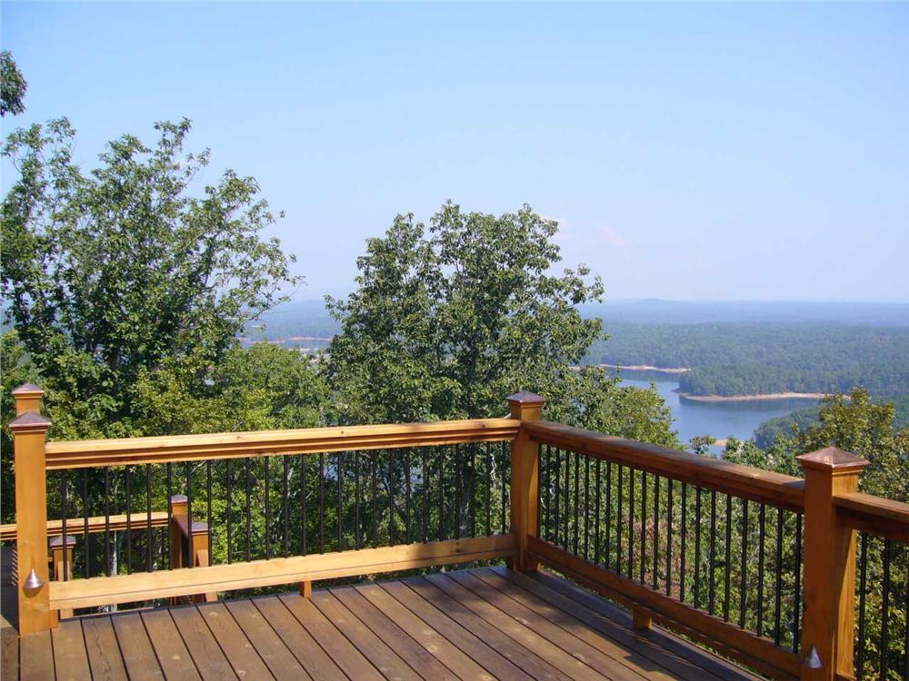 Sun deck with beautiful view of mountains and lake