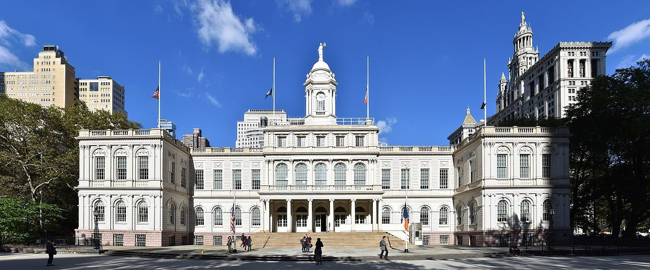 New York City Hall, designed by John McComb Jr.