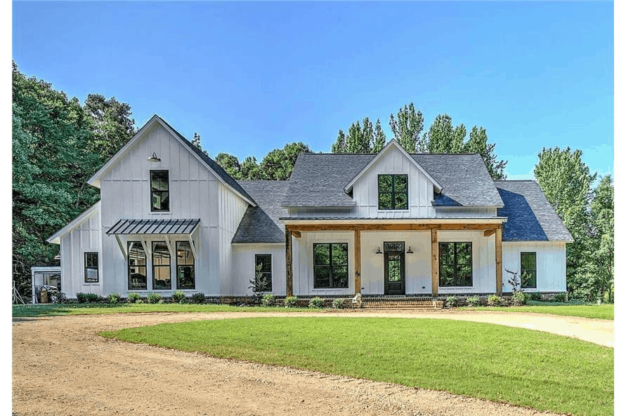 Transitional home in the Country Farmhouse style with main-level master