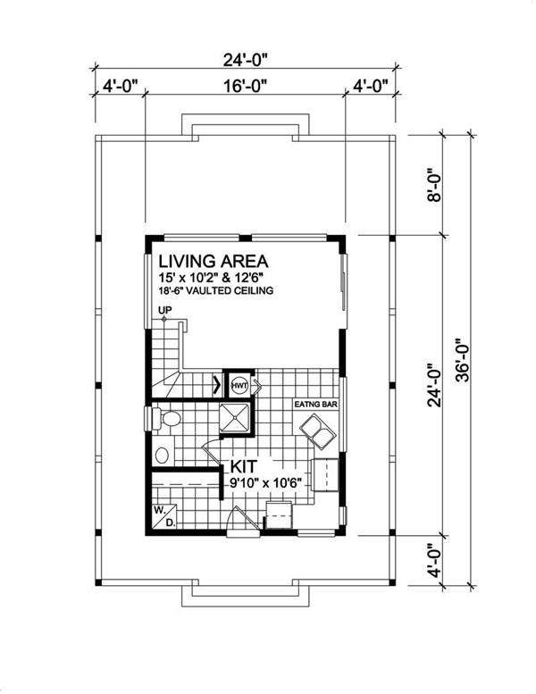 Floor plan showing wrap-around porch