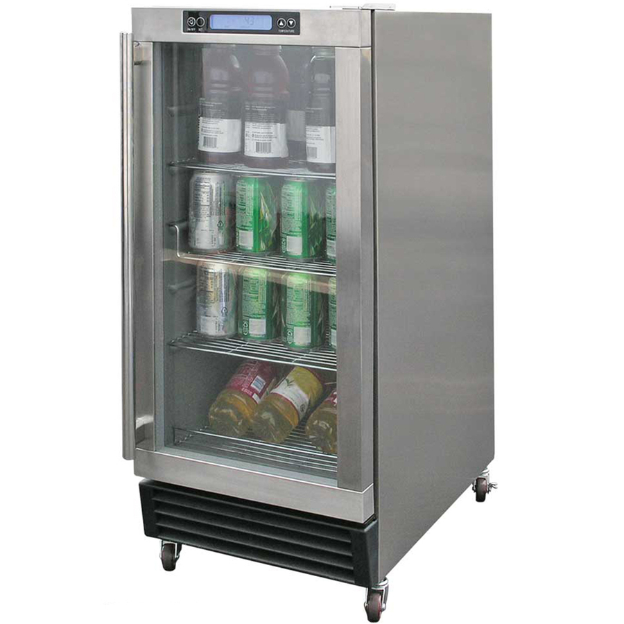 Modular refrigerator for use in outdoor kitchen