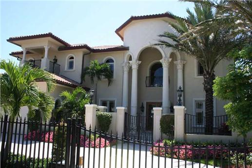 Mediterranean style home.