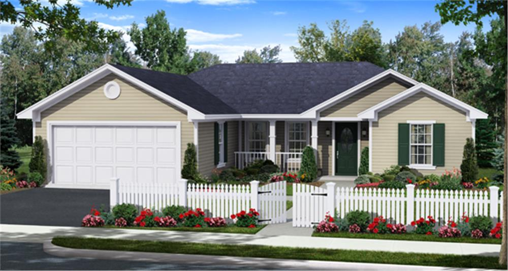8 tips for achieving the best curb appeal for your house plan for Single story ranch house